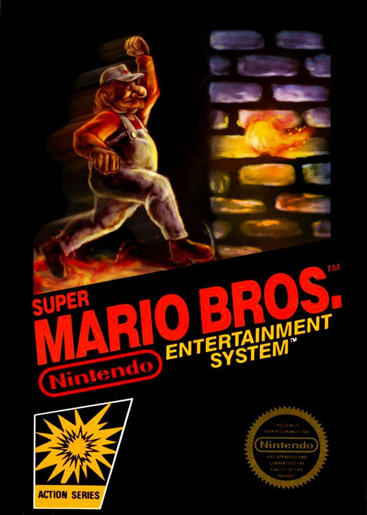 super mario bros nes box art