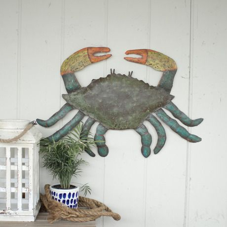 Hand Hammered Eco Crab Wall Décor | Home accents | Pinterest | Walls ...
