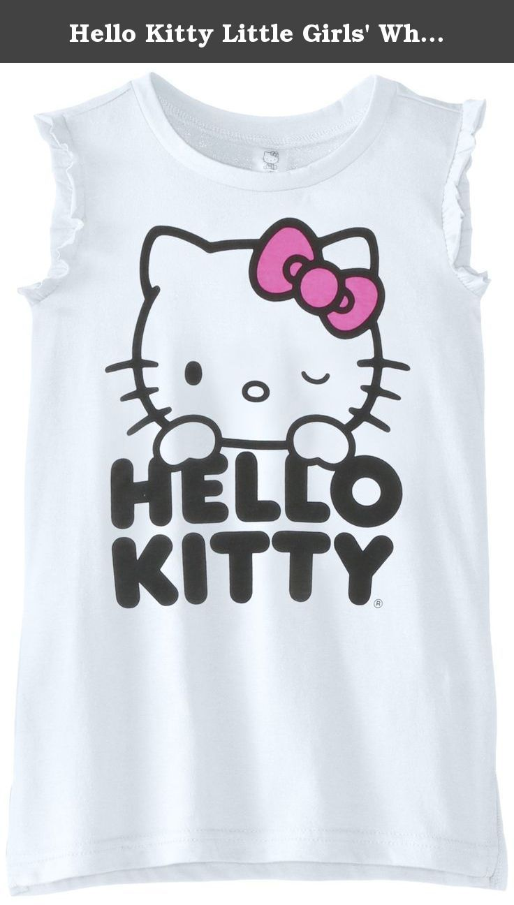 704ae30502 Hello Kitty Little Girls  White Tank Cover Up