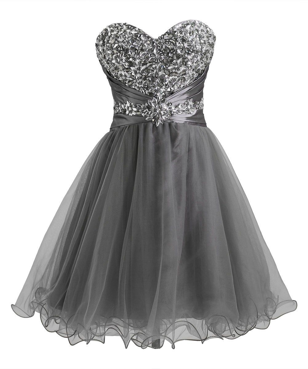 Callmelady short homecoming dresses tulle sweetheart beading