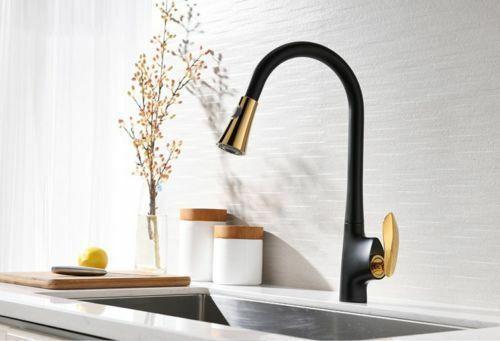 Faucet finishes Black Gold. Suitable place Kitchen sink. We ...
