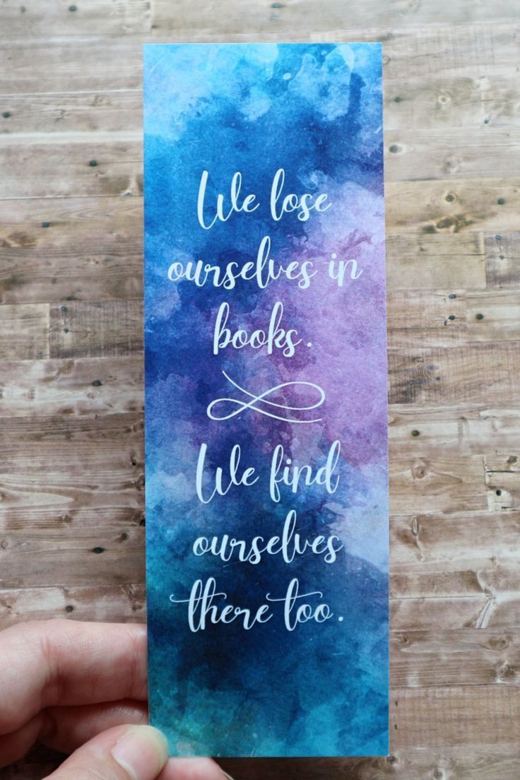 Watercolor Bookmark Printable Bookmarks Book Quote Bookmark Instant Download Literary Gifts Bookish