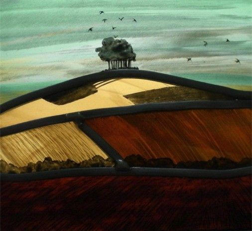 Wittenham Clumps Annie Rie | Stained Glass