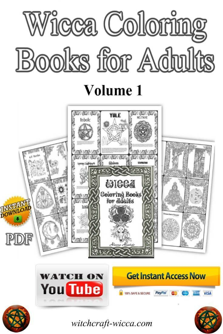 Book of Shadows coloring pages 58 Pages, Wicca Coloring Book ...