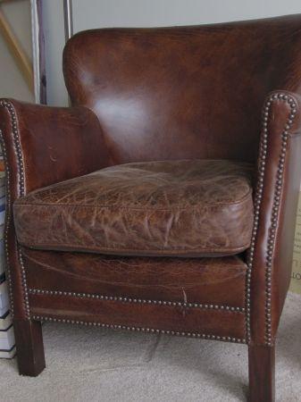 restoration hardware professor's leather chair | household fun