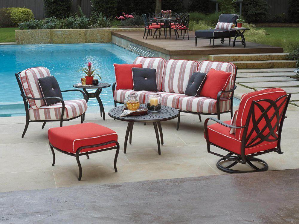 Best Woodard Apollo Cast Aluminum Lounge Set Outdoor 400 x 300