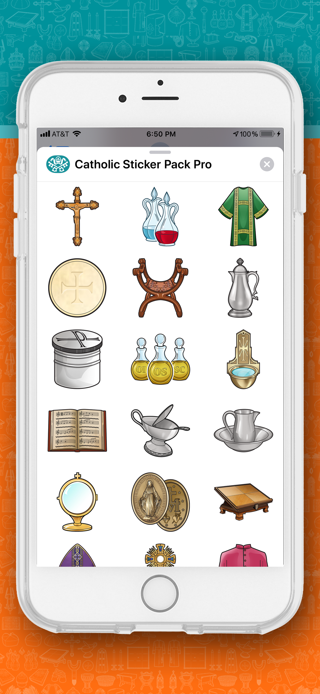 A cute collection of over 65 ROMAN CATHOLIC STICKERS