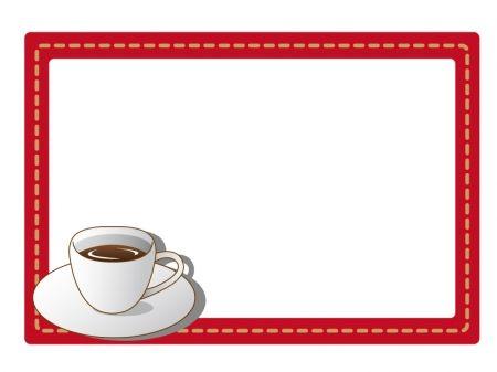コーヒーカップのフレーム 枠イラスト素材 コーヒーカップ コーヒーカップ イラスト コーヒー