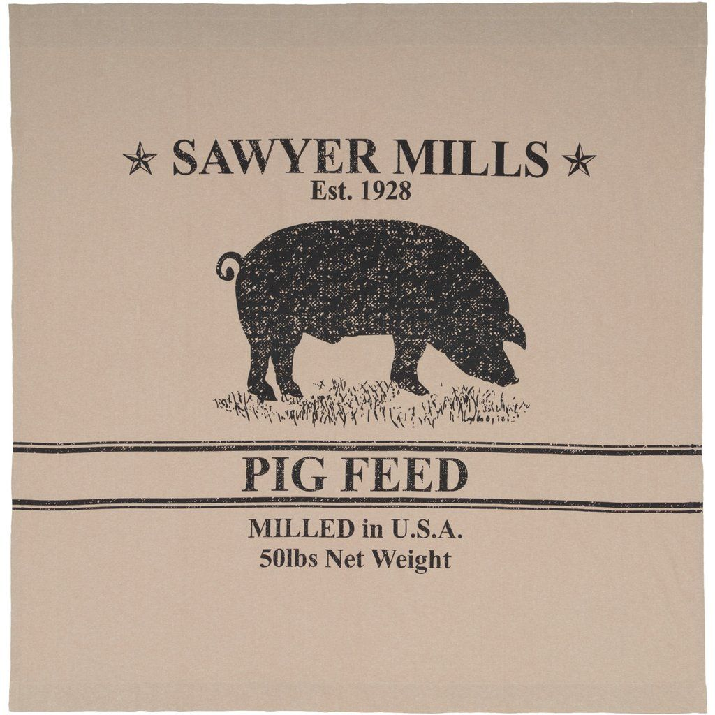 Sawyer Mill Charcoal Pig Shower Curtain 72x72 In 2020 Fabric