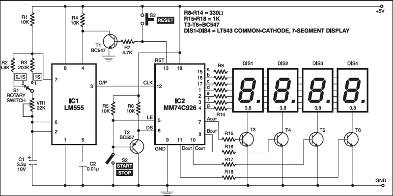 Digital Stop Watch | Circuit diagram, Electronics projects ...