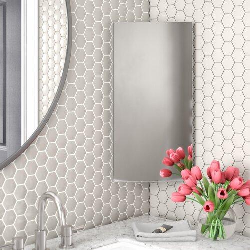 Claverton Down 30 X 60cm Corner Mount Flat Mirror Cabinet Mirror Cabinets Cabinet Shelving Wall Mounted Mirror