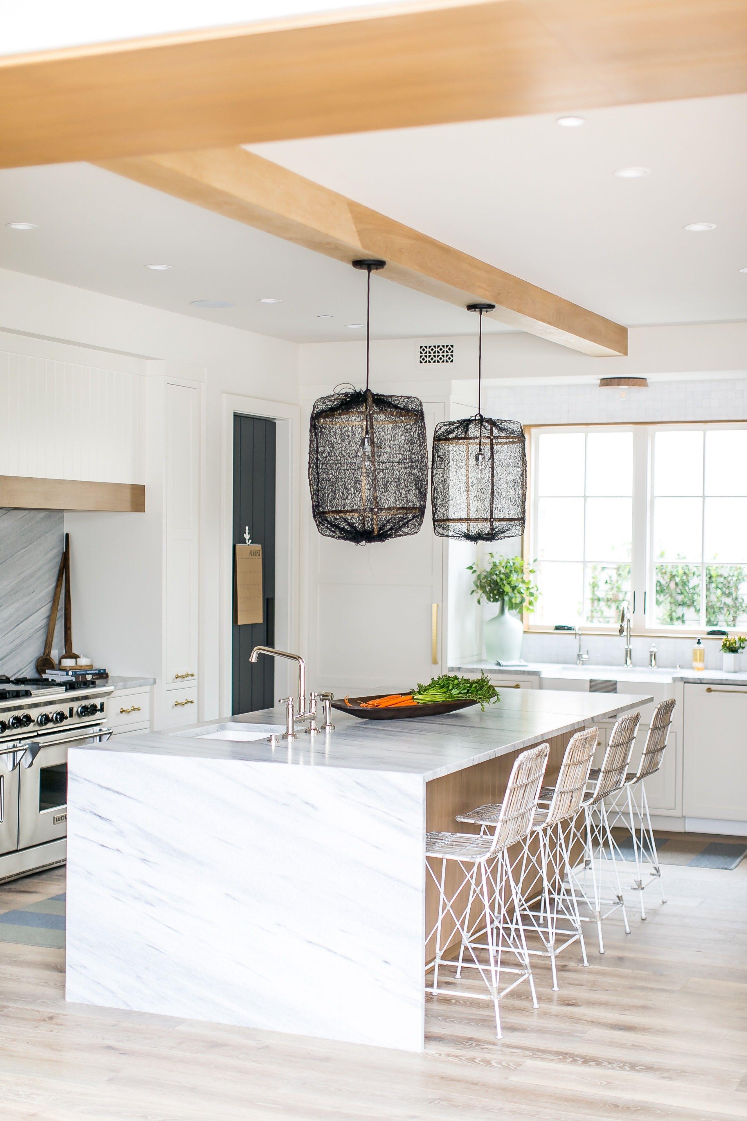 Goodbye Polish Hello Texture California Designer Makes Her Marble Antiqued Modern Farmhouse Kitchens Home White Modern Kitchen