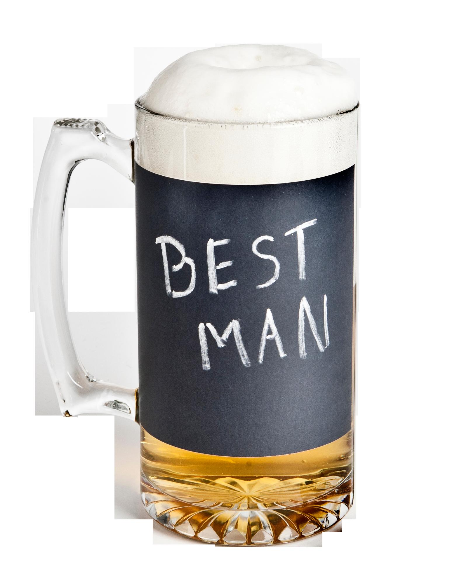 Chalkboard beer mug from TheManRegistry.com