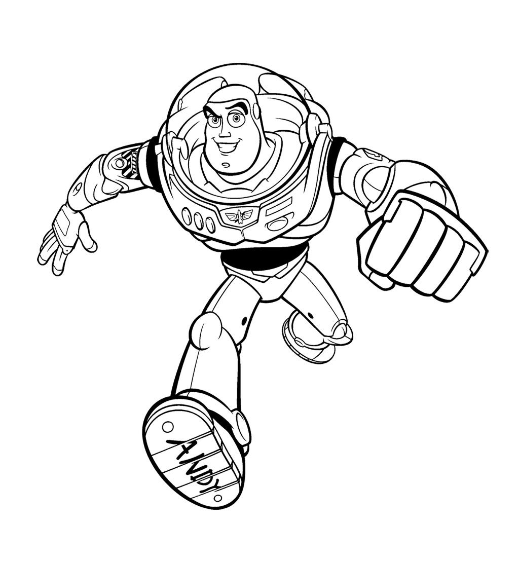 Toy Story Buzz Lightyear Goes Quickly Coloring Page For