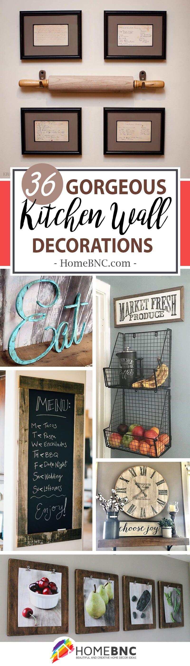 45 Pretty Kitchen Wall Decor Ideas To Stir Up Your Blank Walls Kitchen Wall Decor Kitchen Wall Design Kitchen Decor Modern