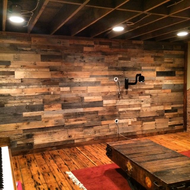Easy Install Pallet Wood Wall Sustainable Lumber Company Diy Pallet Wall Wood Pallet Wall Rustic Wood Walls