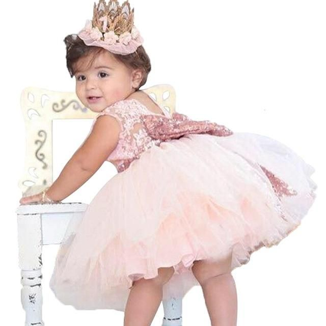 356d5807d29e New Lace Baby Girl Dress 9M-24M 1 Years Baby Girls Birthday Dresses ...