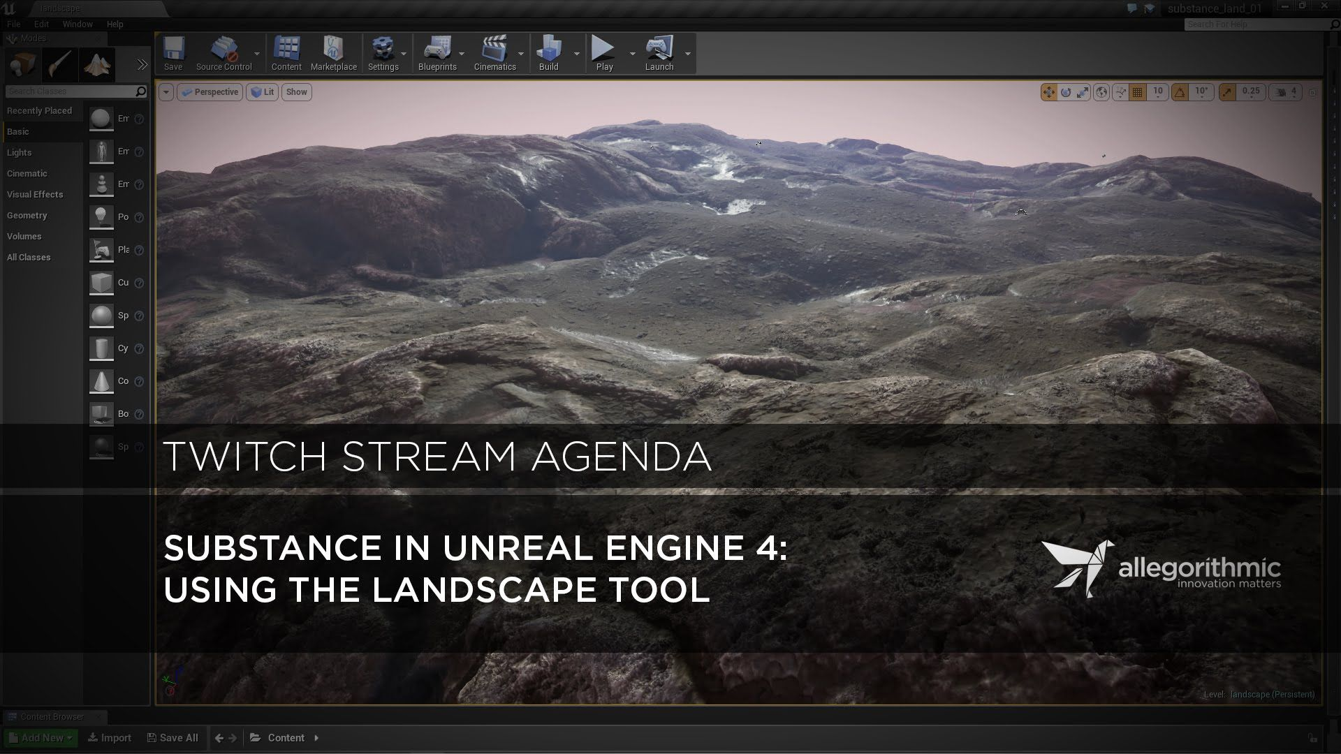 Ue4 Using A Substance To Create A Landscape Material S