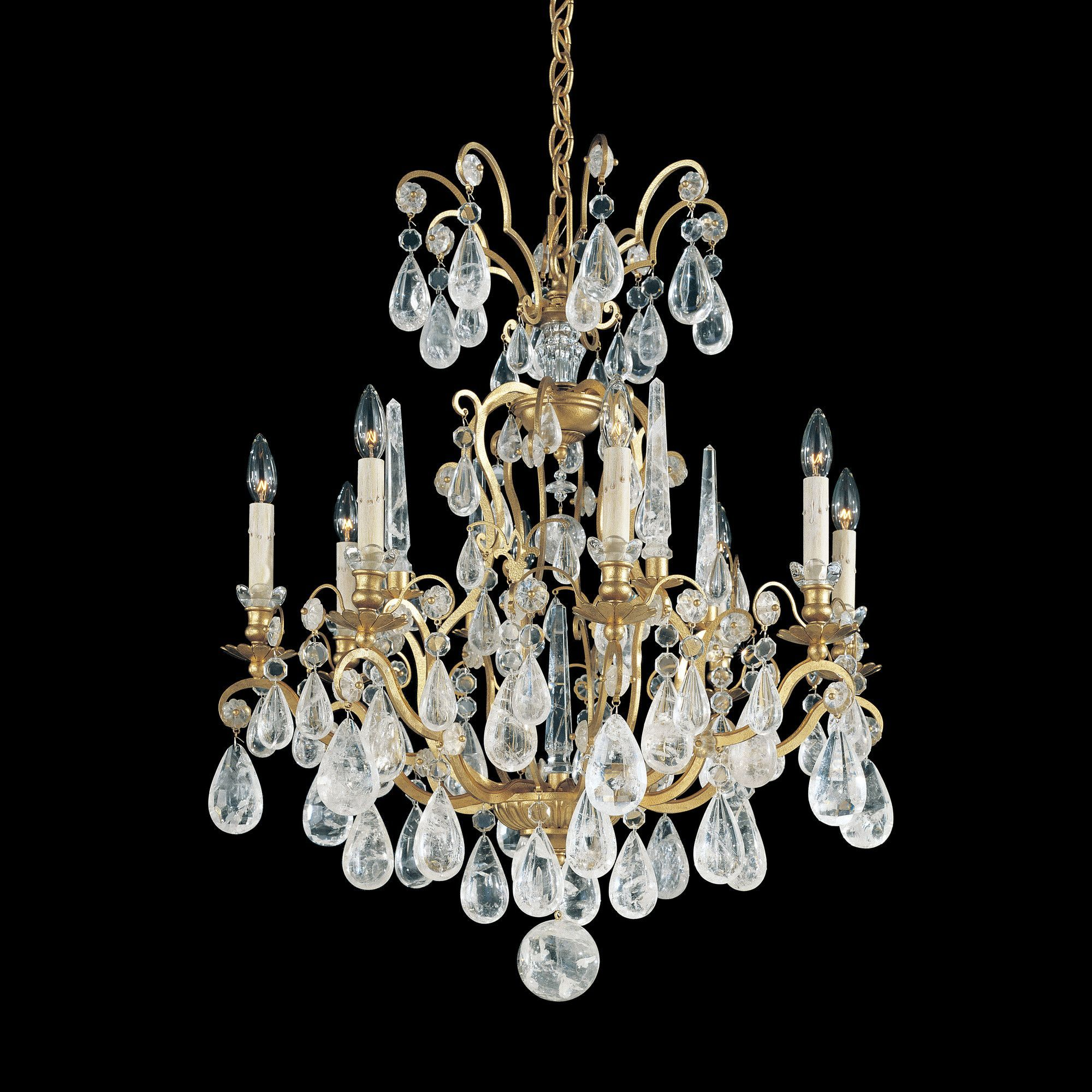 Versailles Rock Crystal 8 Light Crystal Chandelier