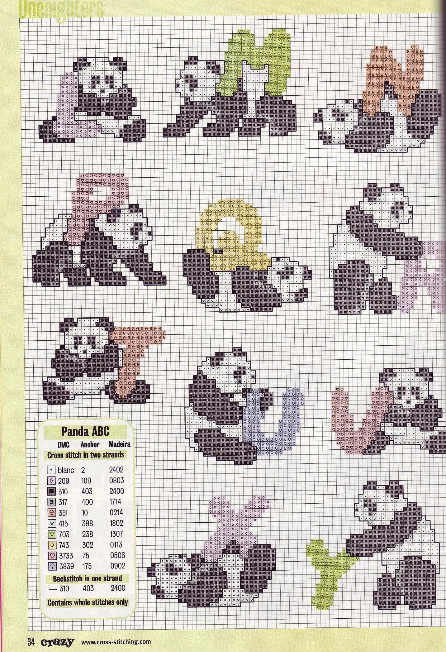 Pin von Judinci auf X stitch alphabets with animals / for kids ...