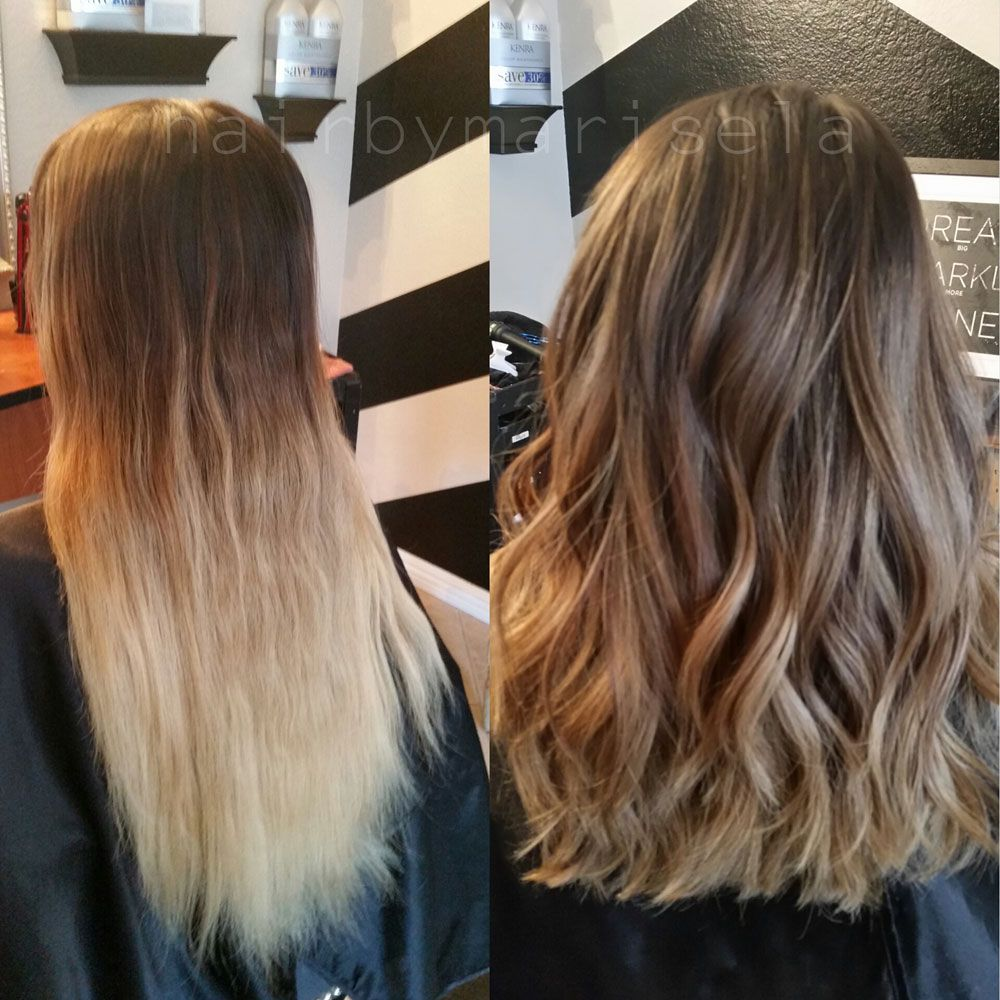 How To From Grown Out Ombre To Perfect Color Melt Growing Out Hair Bleached Hair Grown Out Blonde Hair