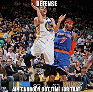 Carmelo Anthony Ain T Got Time For Defense Meme Sports Memes Lol