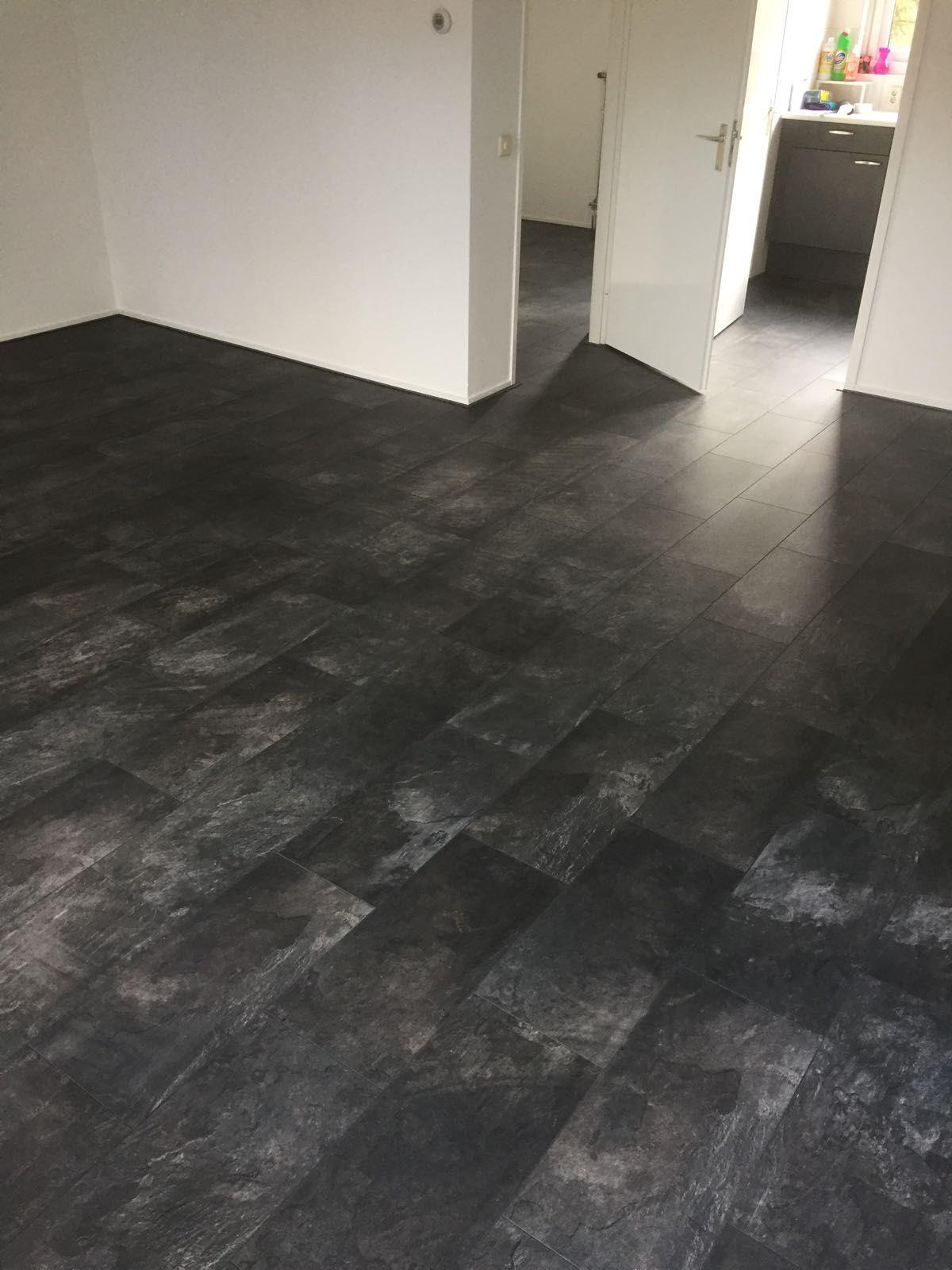 Antraciete marmer tegellaminaat vloeren van Beboparket - woonkamer ...