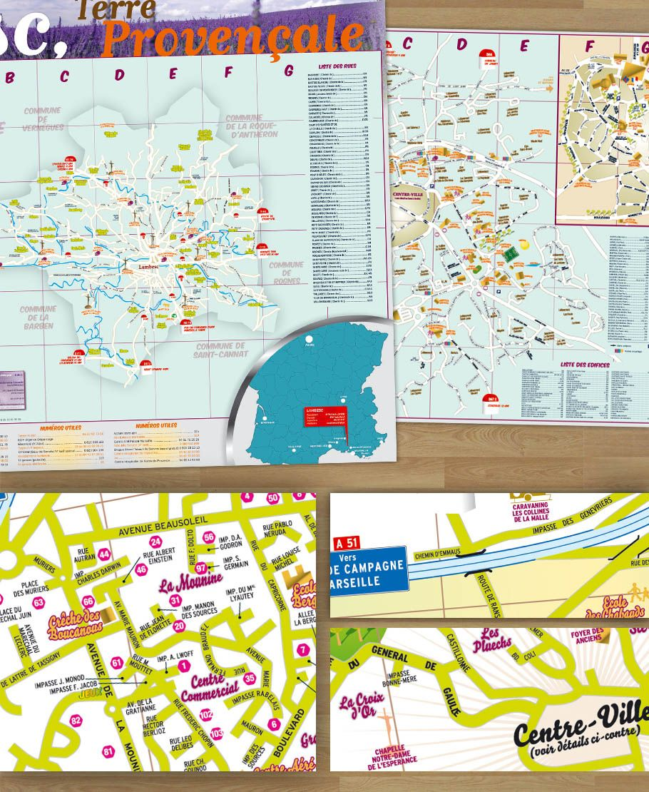 Tourist maps of the PACA region of France tourismepaca map carte