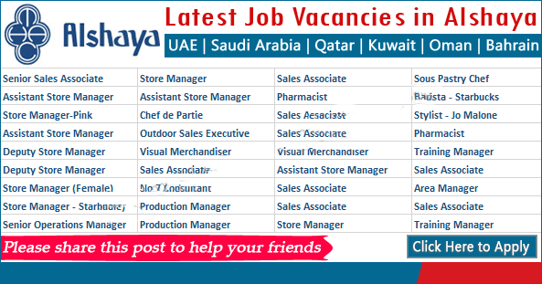 ALSHAYA GROUP published their latest jobs in kuwaitfor all