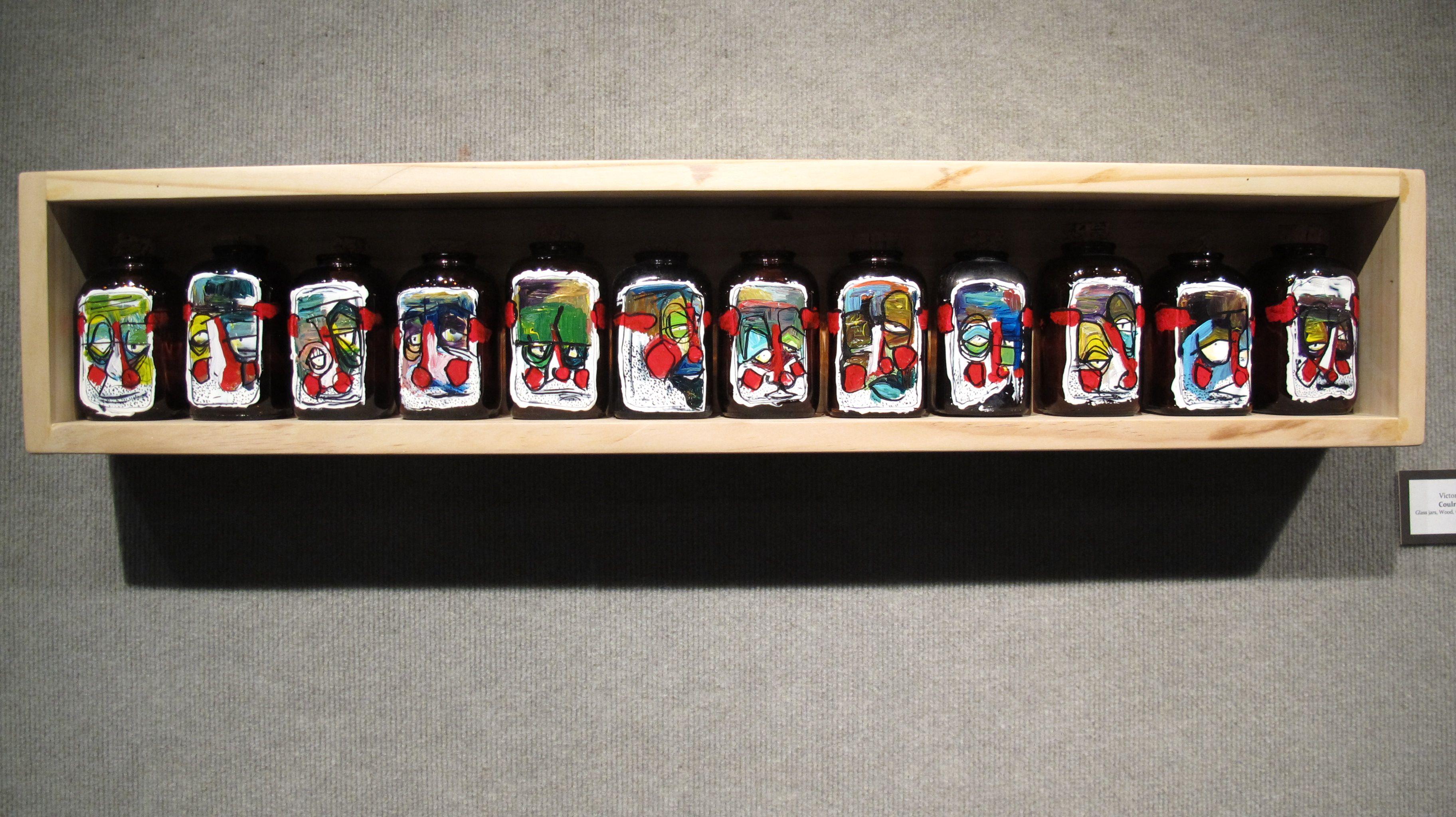 my senior show. clown jars