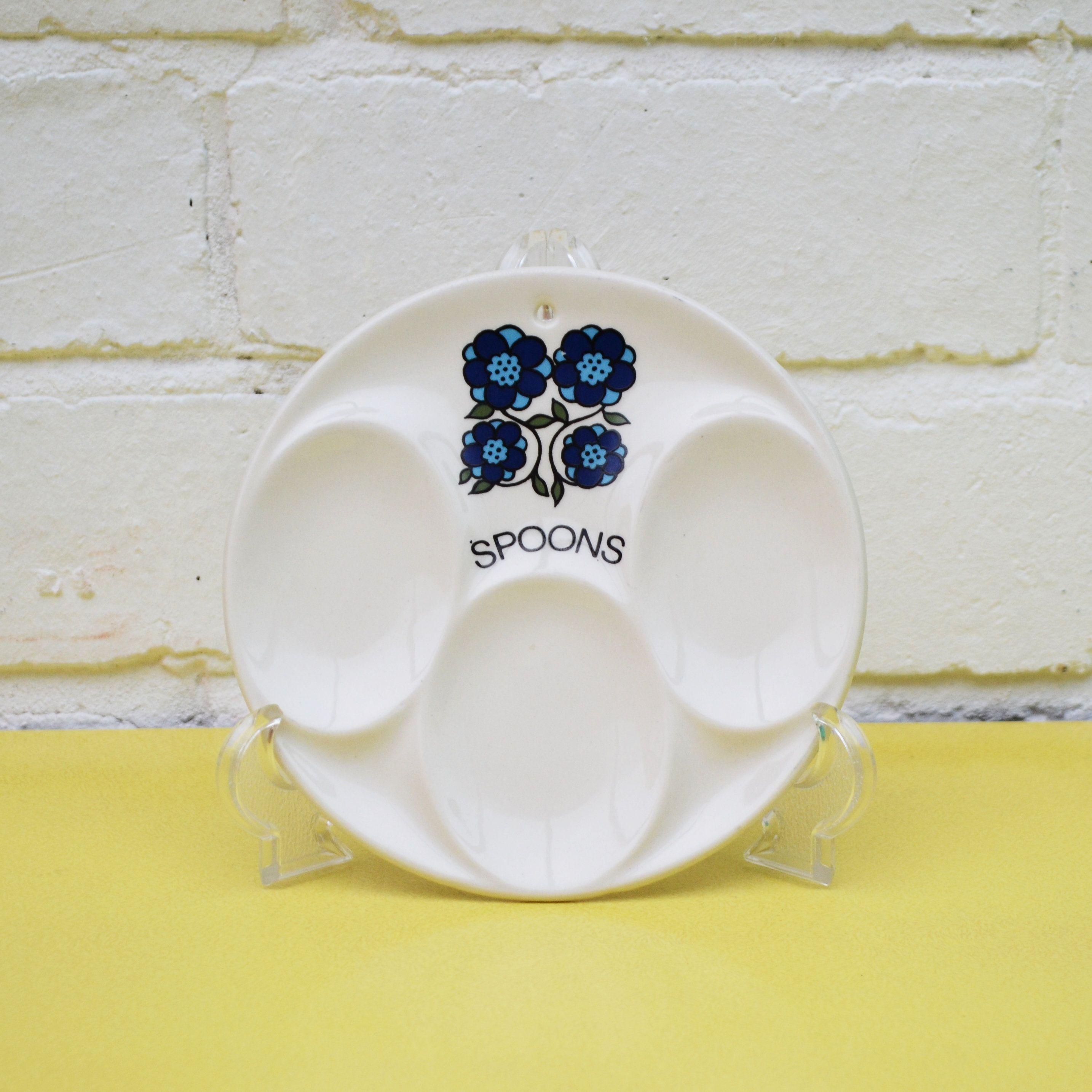 Vintage Handmade Ceramic Spoon Rest