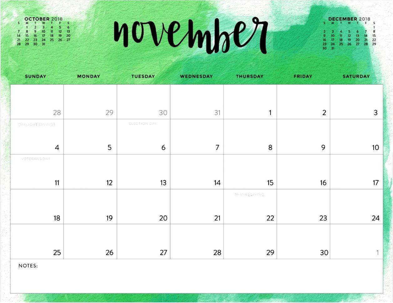 November Printable Calendar 2018 Free Download   Calendar ...
