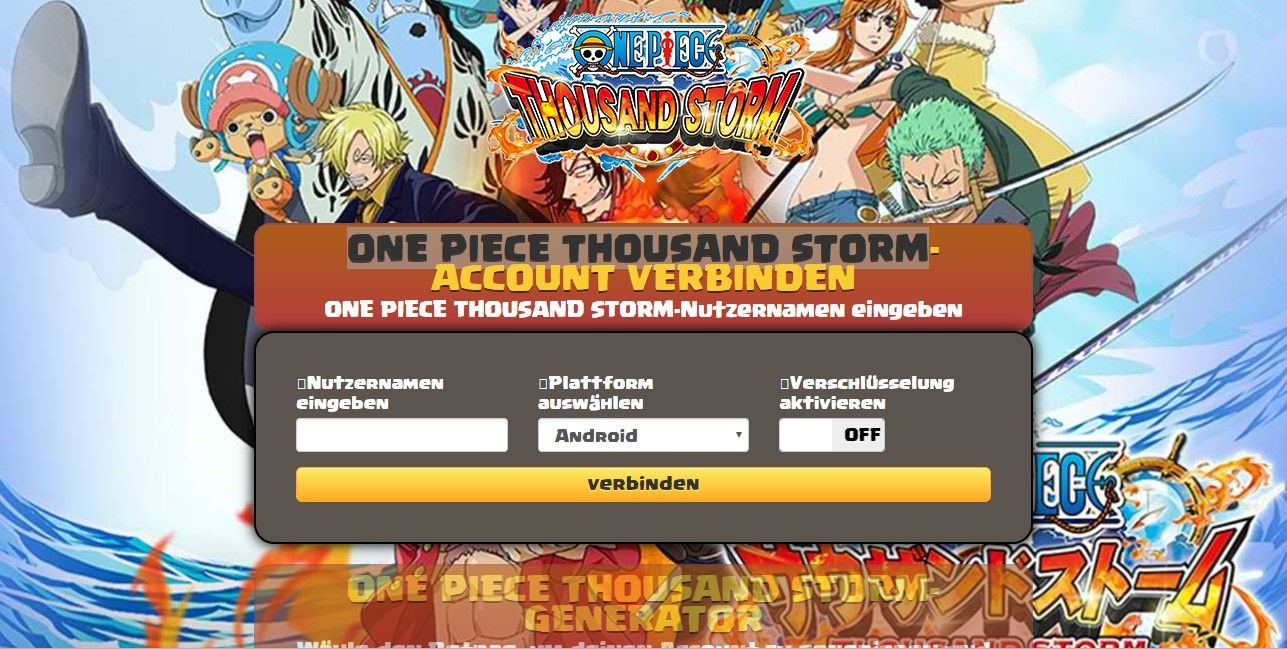 One Piece Thousand Storm Hack Deutsch Money Unbegrenzt German Resources Storm Generator
