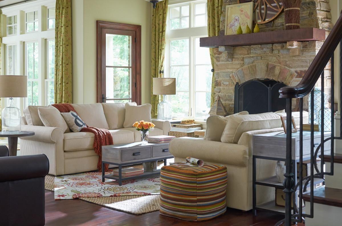 La Z Boy Collins Sofa With Rolled Arms Morris Home Furnishings Dayton Cincinnati Columbus Ohio