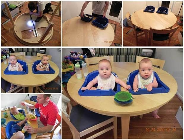 How To Diy Twins High Chair Table For The Home Twins