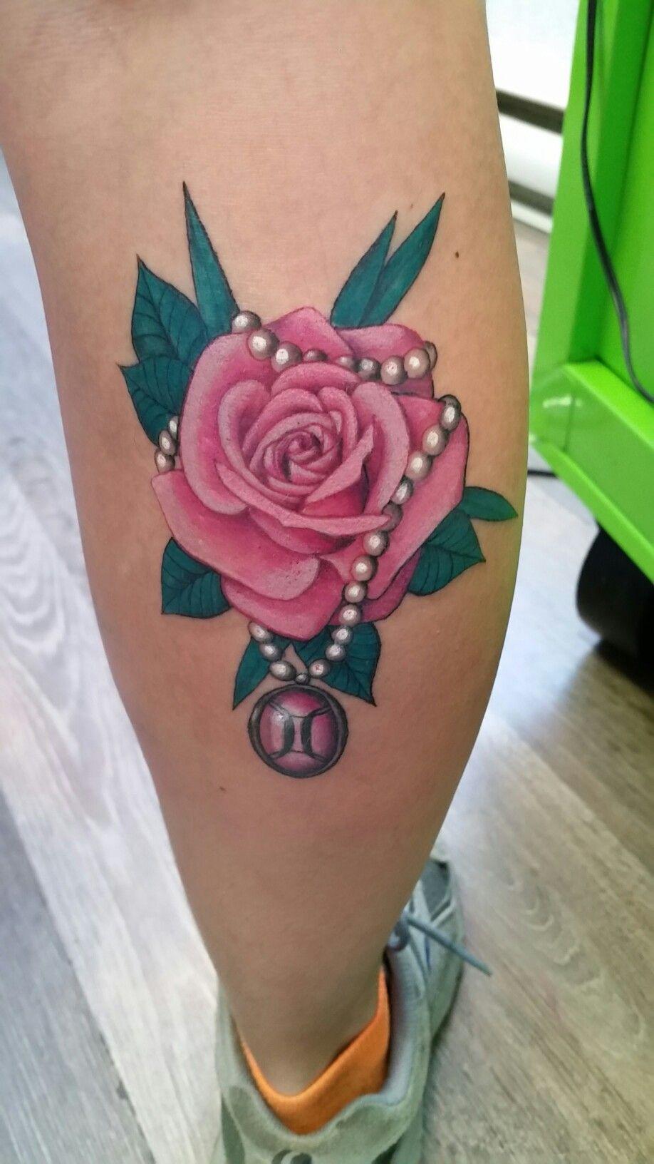Rose Pearl Gemini Tattoo Pearl Tattoo Gemini Tattoo Tattoo Designs