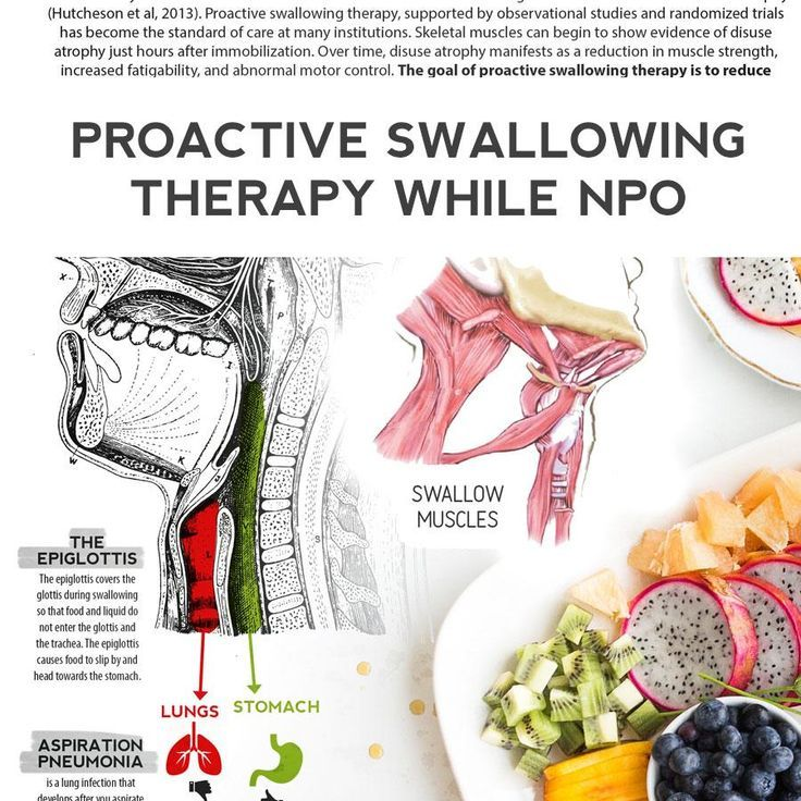 Handout: Proactive Swallowing Therapy While NPO