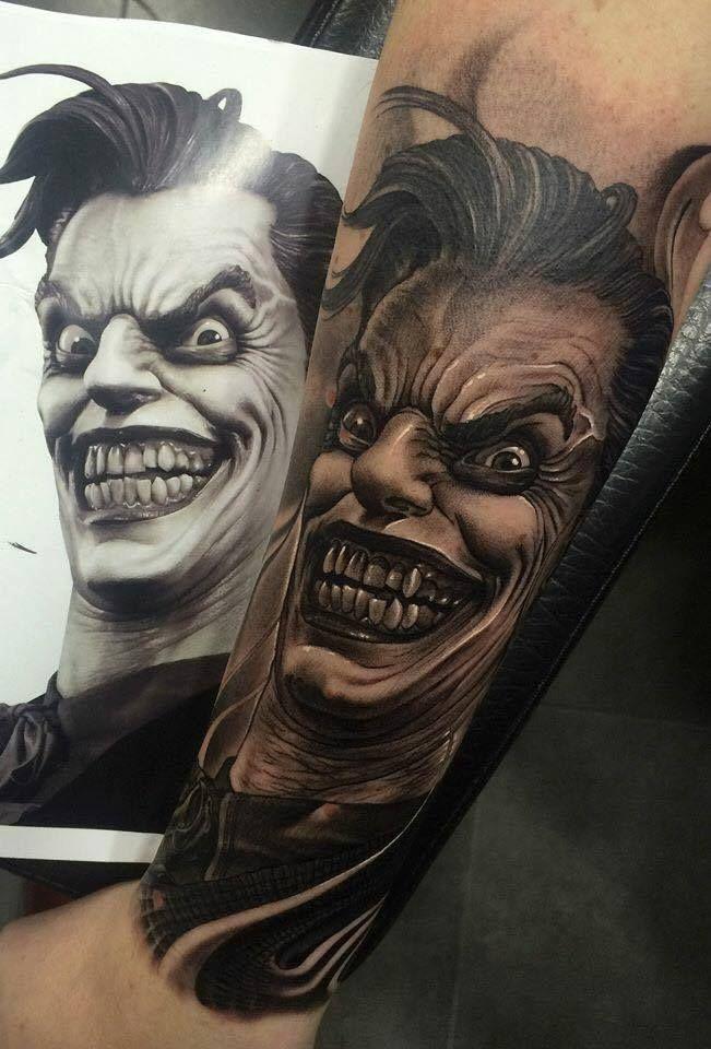 50 Verruckte Joker Tattoos Designs Und Ideen 6 4