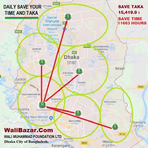 MAP OF DHAKA | map of walibazar