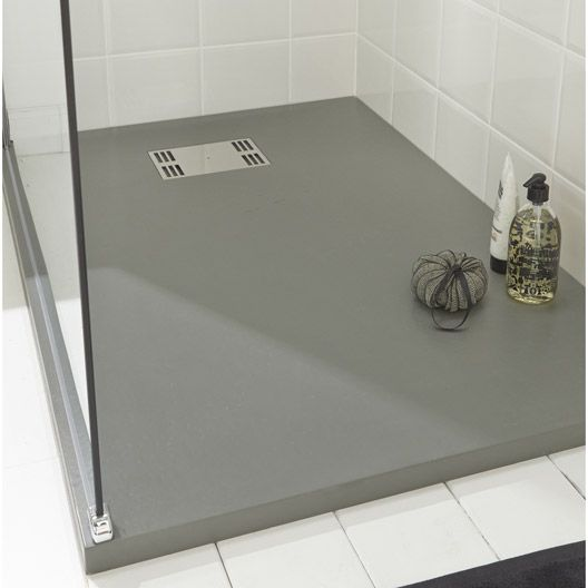 receveur de douche slate gris extra plat r sine rectangulaire 120 x 80 cm salle de bains. Black Bedroom Furniture Sets. Home Design Ideas