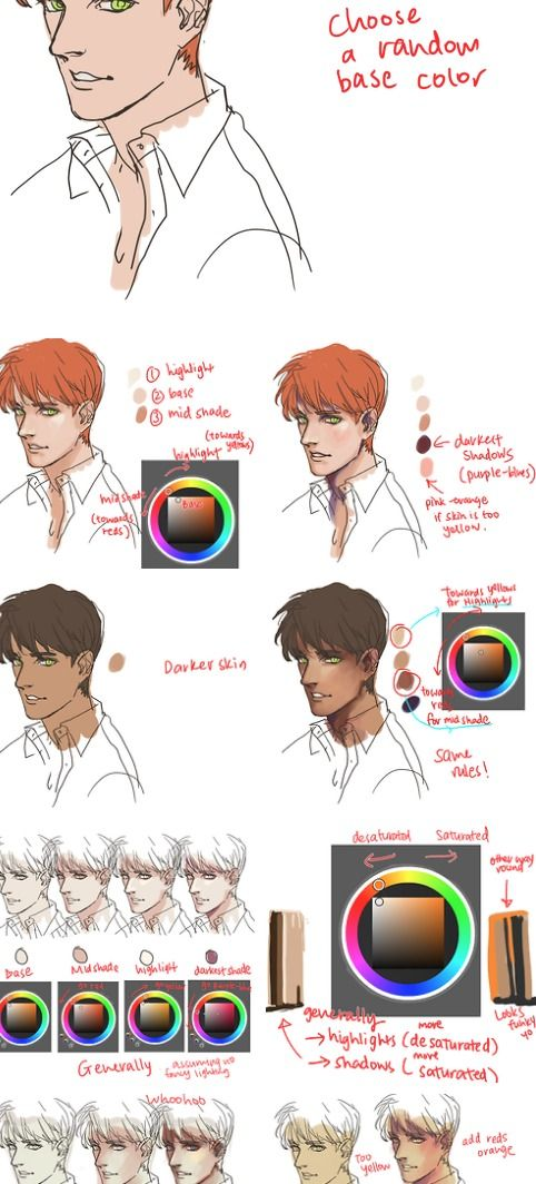 kelpls.tumblr.com Skin coloring tutorial, click to see whole thing ...