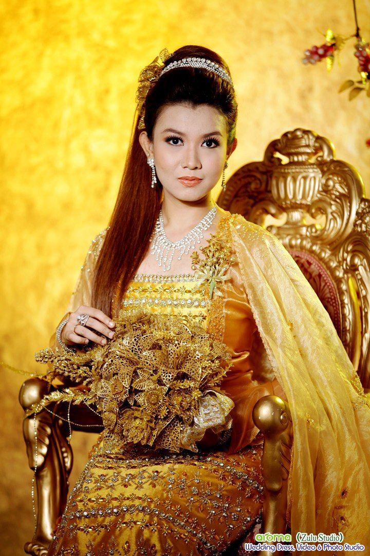 Burmese wedding dress | Burmese Dress | Pinterest | Burmese, Thai ...