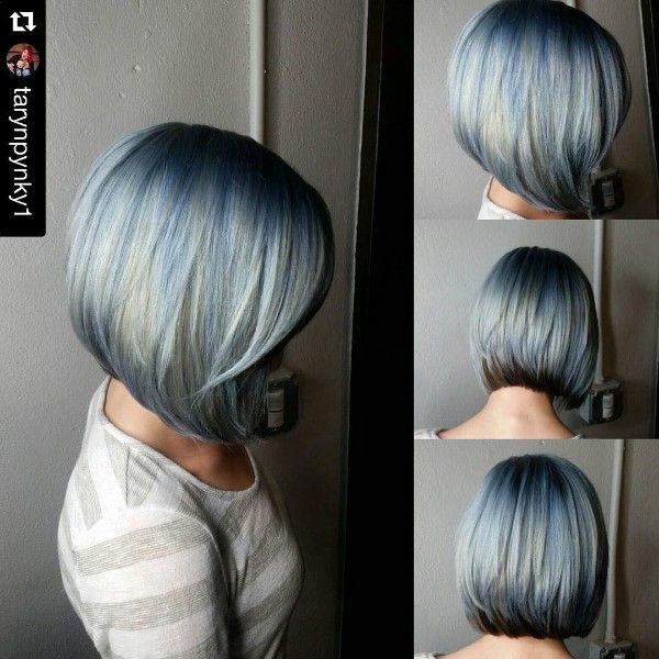 pelo negro azul y rubio  1bedea040a52