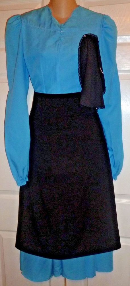 Amish Complete  Costume Dress Cape Apron Head Covering 38
