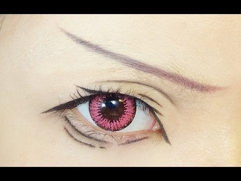 Tutorial : Anime Eye Makeup 52 • Matsuoka Rin - YouTube