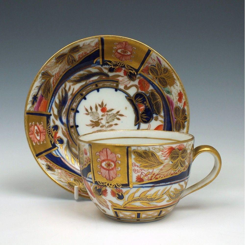 New Hall Porcelain Tea Cup & Saucer c1815 | Tea Cups