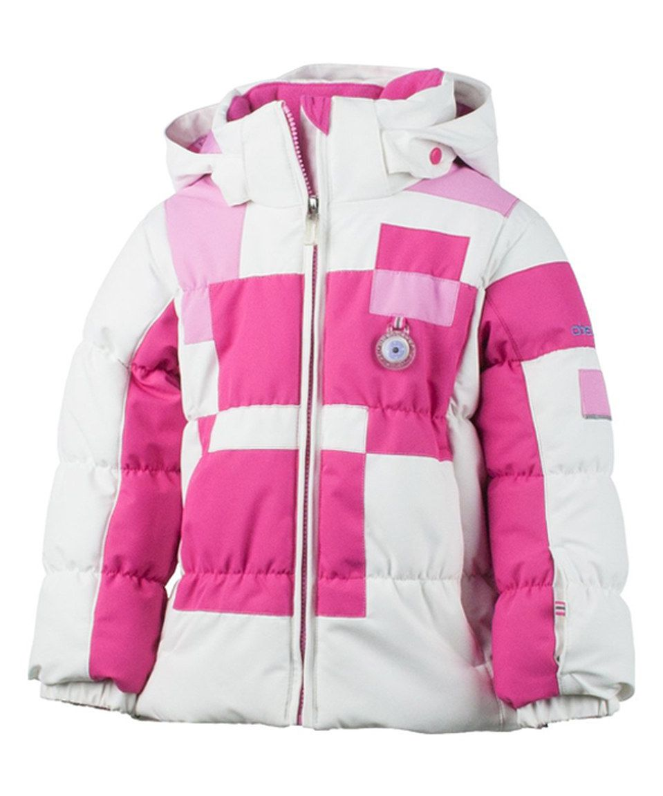 2bb32983f Look what I found on  zulily! White   Pink Kitt Jacket - Toddler ...