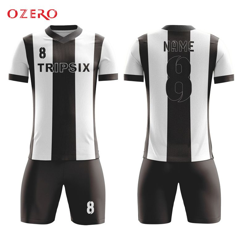 362912c9b Find More Soccer Jerseys Information about black and white stripes 100%  polyester fully sublimation custom