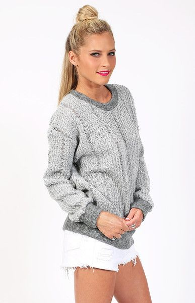 Staple The Label Laddered Knit Sweater $110 http://bb.com.au/collections/new/products/staple-the-label-laddered-knit-sweater#