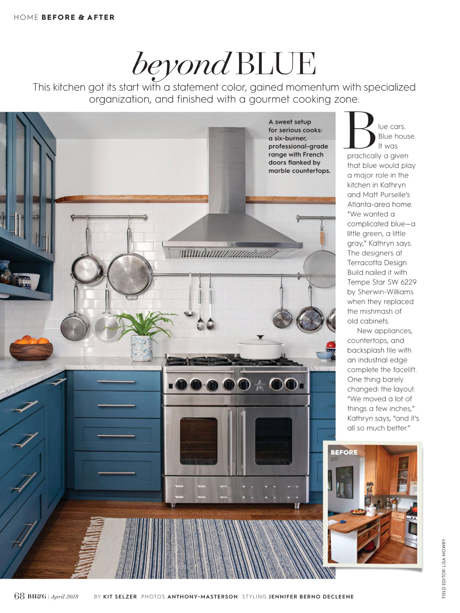 Beyond Blue From Better Homes And Gardens April 2018 Read It On